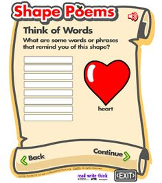 heart shaped writing template - all about me poems biography poem with fun pencil shaped