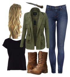 """""""Dean  Winchester Outfit"""" by contesara on Polyvore featuring moda, VILA, LE3NO e Timberland"""