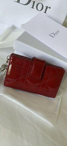 Dark Red Genuine Eel Skin Leather Mini Coin Purse Small Square Wallet