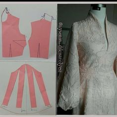 Sewing Stitches, Sewing Patterns, Blouse Dress, Fashion Sewing, Pattern Making, Duster Coat, Womens Fashion, Sleeves, Jackets