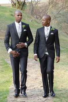 Two dapper grooms