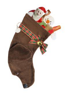 Chocolate Lab Christmas Stocking
