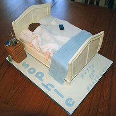 I love this cake! What an awesome cake for the teenager in your life....or, perhaps, the spouse who loves to sleep in!