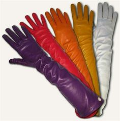 Opera gloves in various colors