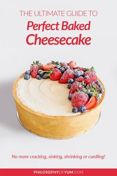 How to bake flawless baked cheesecake at home! Learn all the tricks and causes behind shrinking, sinking, cracked baked cheesecake. You'll never have to deal with these problems again. Click through to start mastering baked cheesecake today :) #cheesecake #cheesecaketips #bakingtips #perfectcheesecake Creamy Cheesecake Recipe, No Bake Vanilla Cheesecake, Cheesecake Recipes, Homemade Cheesecake, New York Style Cheesecake, Classic Cheesecake, Vanilla Cream Cheese Frosting, Compote Recipe, Fruit Compote