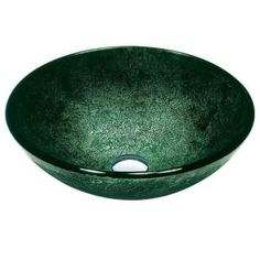 Vigo Tempered-Glass Vessel Sink in green-VG07504 at The Home Depot $113
