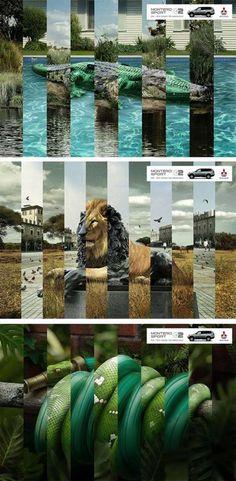 Publicité - Creative advertising campaign - Mitsubishi, Montero Sport: On / off road technology Creative Advertising, Print Advertising, Advertising Campaign, Advertising Ideas, Ads Creative, Design Graphique, Art Graphique, Desgin, Art Actuel