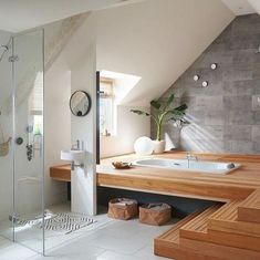 Dreaming of a lavishness or designer master bathroom? We've gathered together plenty of gorgeous master bathroom ideas for small or large budgets, including baths, showers, sinks and basins, plus bathroom decor tips. Bad Inspiration, Bathroom Inspiration, Japanese Bathroom, Japanese Soaking Tubs, Bathroom Spa, Bathroom Ideas, Bathroom Cost, Spa Inspired Bathroom, Bathroom Goals
