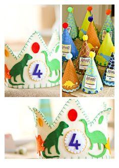 Dinosaur Party - birthday crown