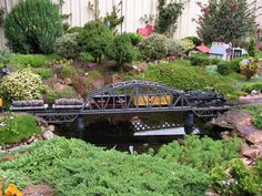 Building bridges and water features into your layout help create noticeable points if interest