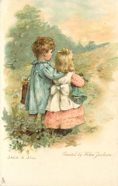 Helen Jackson - English- (1855-1911) vintage postcard...another sweet postcard by this artist...love her use of muted colors