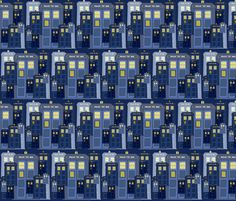 Too Many Phone Boxes fabric by sharlzndollz on Spoonflower - custom fabric