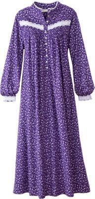 f174d54d02f Eileen West Forget-Me-Not Flannel Nightgown