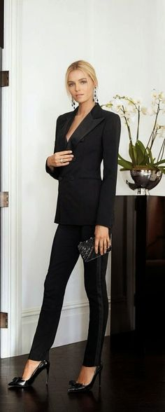 Best Street Fashion Clothing for Women 2015 - Ralph Lauren black suit