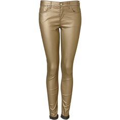 MOTO Metallic Gold Leigh ($40) ❤ liked on Polyvore