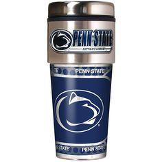 Great American Products Penn State Nittany Lions Travel Tumbler w/ Metallic Graphics and Team Logo