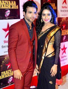 Rithwik Dhanjani and Asha Negi at Star Parivaar Awards 2014