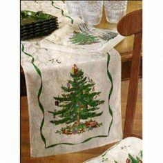 """Spode Christmas Tree Table Runner 108"""" X 14"""" by Avanti. $42.99. Spode Table Runner"""