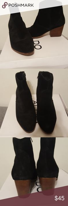 Aldo Booties 👢 Black suede Also booties. In excellent condition, only worse once. Love the boots just not my style ☹ Aldo Shoes Heeled Boots