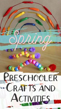 These preschooler activities and crafts are perfect for Spring! Easy and simple preschool art projects, sensory crafts, fine motor skills, and Learning activities perfect for April, May, and June! #howweelearn #preschoolactivities #preschoolcrafts #preschoolthemes #springcrafts #springactivities #spring #preschool #preschoolers #homeschooling #3yearolds #preschoolteacher