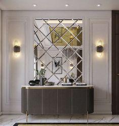 Home Room Design, Interior Design Living Room, Living Room Designs, House Design, Entrance Hall Decor, Entryway Decor, Mirror Decor Living Room, Flur Design, Behance