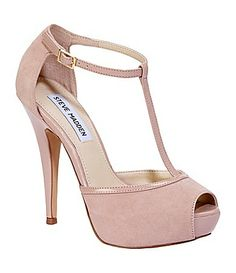 Steve Madden Maagie T-Strap Pumps - Blush Suede Cute Shoes, Me Too Shoes, Homecoming Shoes, Shoe Boots, Shoes Sandals, Bridesmaid Shoes, Bridesmaid Ideas, Bridesmaids, Nike Fashion