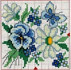 схемы вышивки крестом ромашки - Поиск в Google
