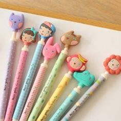 Hellogeeks Pen Set from MochiThings. Saved to Epic Wishlist. Shop more products from MochiThings on Wanelo. Korean Stationery, Kawaii Stationery, All Things Cute, Girly Things, Beautiful Things, Kawaii Things, Kawaii Stuff, Cute Pens, Best Pens