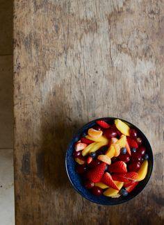 Fruit Salad & Honey Orange Syrup