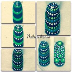 Маникюр | Ногти #nailart #dots