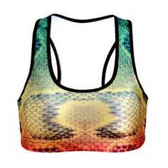 09ec0b9f46c6c Gradient Snake Skin Print Fitness Short Vest Workout Wireless Underwear  Seamless Stretch Tank Top Hiphop Soft. Soft BraWomen s Sports BrasBra ...