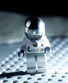 Lego astronaut on the moon