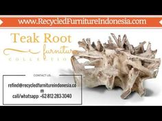 We are exporter and manufacturer of teak root garden furniture in Jepara, Indonesia. Our product range are: teak root bench, teak root chair, teak root stool.