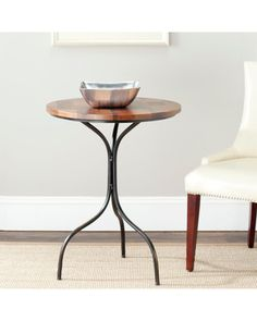 Add a handy side table to your family room or other living area and gain that additional table space you so desperately need. This table is constructed of mixed wood and metal for a modern feel that looks at home in any room of your house. Furniture Sale, Living Room Furniture, Accent Furniture, Online Furniture, Copper Side Table, Contemporary End Tables, Sofa End Tables, Side Tables, Coffee Tables