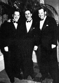 Laurel and Hardy with Walt Disney
