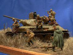 Photo 2 - Soviet tank riders | Dioramas and Vignettes | Gallery on Diorama.ru