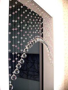crystal beaded curtainglass beads curtain home decor - shabby chic Rideaux Design, Decorative Beads, Diy Casa, Beautiful Curtains, Unique Curtains, Modern Curtains, Beaded Curtains, Crystal Curtains, Curtain Designs