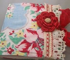 Another great idea!  Using vintage fabric like tableclothes (cutters) to make  hankies