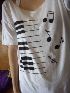 Musical Shirt #top  i could make that!