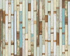 The Answer to my little DYI prayers. Repurposed wood WALLPAPER. I have died and gone to heaven. Happy Birthday to me.