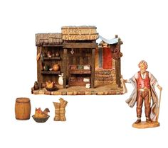 5 Inch Scale Trading Post Collection by Fontanini Trading Post, Diorama, Tent, Scale, Instruments, Collection, Shop, Check, Kiosk