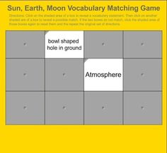 Sun earth and moon triple venn diagram venn diagrams diagram matching game for the vocabulary words associated with the sun earth and moon this game is a smartboard activity and can be edited if you need to change ccuart Choice Image