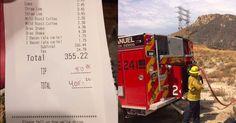 Kind stranger picks up firefighters' $400 Denny's bill after they tackled huge blaze