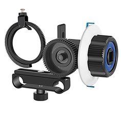 2pcs Adjustable Lens Gear Ring w// Metal Handle f DSLR Follow Focus Ring