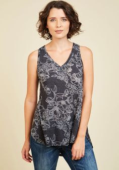 Infinite Options Top in Burnout Blooms, #ModCloth