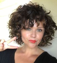 Best Curly Bob Hairstyles for Women with Chic look is part of Curly hair styles - Hair length is very important If you have a curly hair type, we offer you the most beautiful curly bob hairstyles recommendations Let's take a look these Curly Hair Styles, Short Curly Hairstyles For Women, Curly Hair With Bangs, Haircuts For Curly Hair, Curly Hair Cuts, Hairstyles With Bangs, Short Hair Cuts, Natural Hair Styles, Bangs Hairstyle