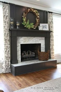 mrble/granite fireplace