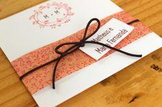Convite de Casamento Faça Você Mesmo DIY usando papel de scrapbook!