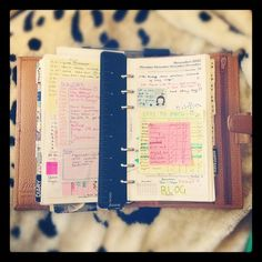 filofax filled with post-its FTW.