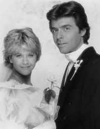 Meg Ryan (Betsy Stewart) & Frank Runyeon (Steve Andropoulous)  -  As the World Turns  -  wedding May 30, 1984